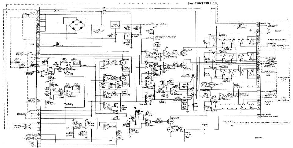 Figure 1-5. CD802/832 Printed Circuit Board Schematic Diagram